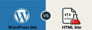 wordpress vs HTML site-ahomtech.com